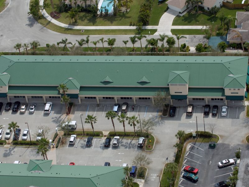 green commercial roof palm beach
